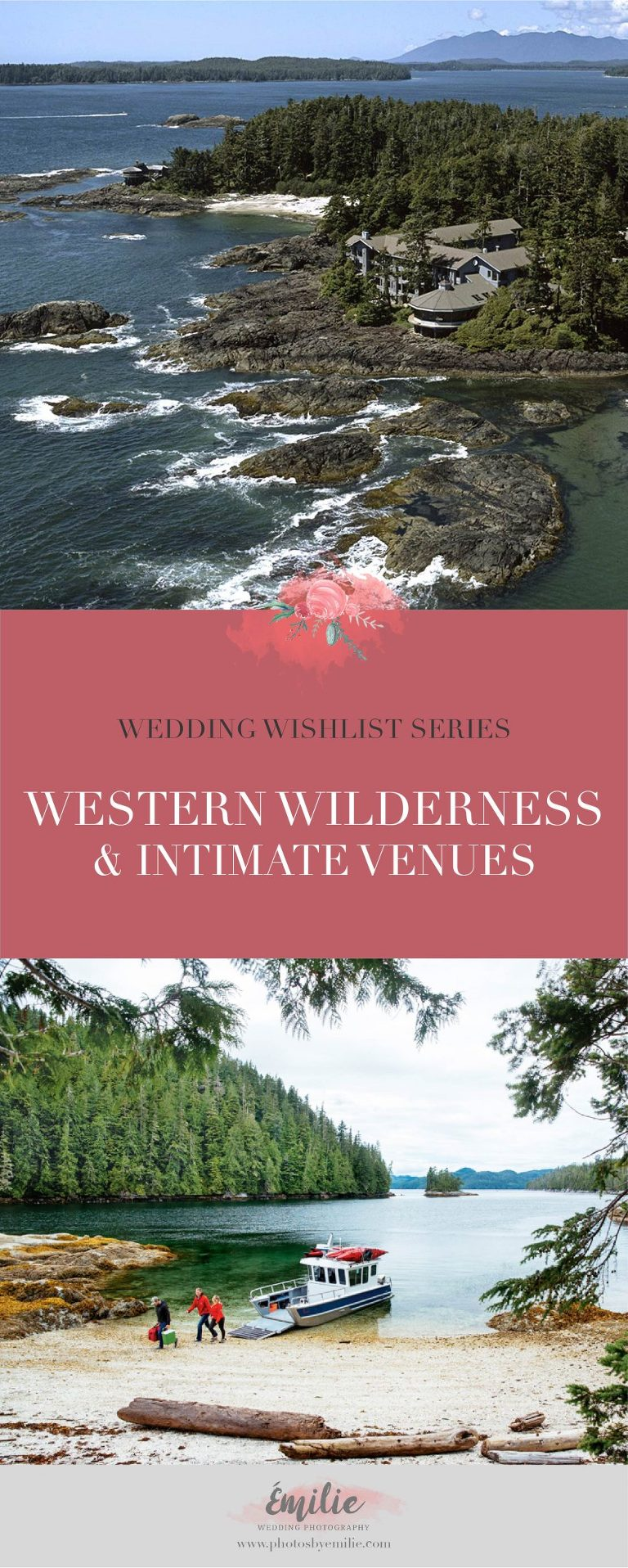 Wilderness and Intimate Wedding Venues in Western Canada