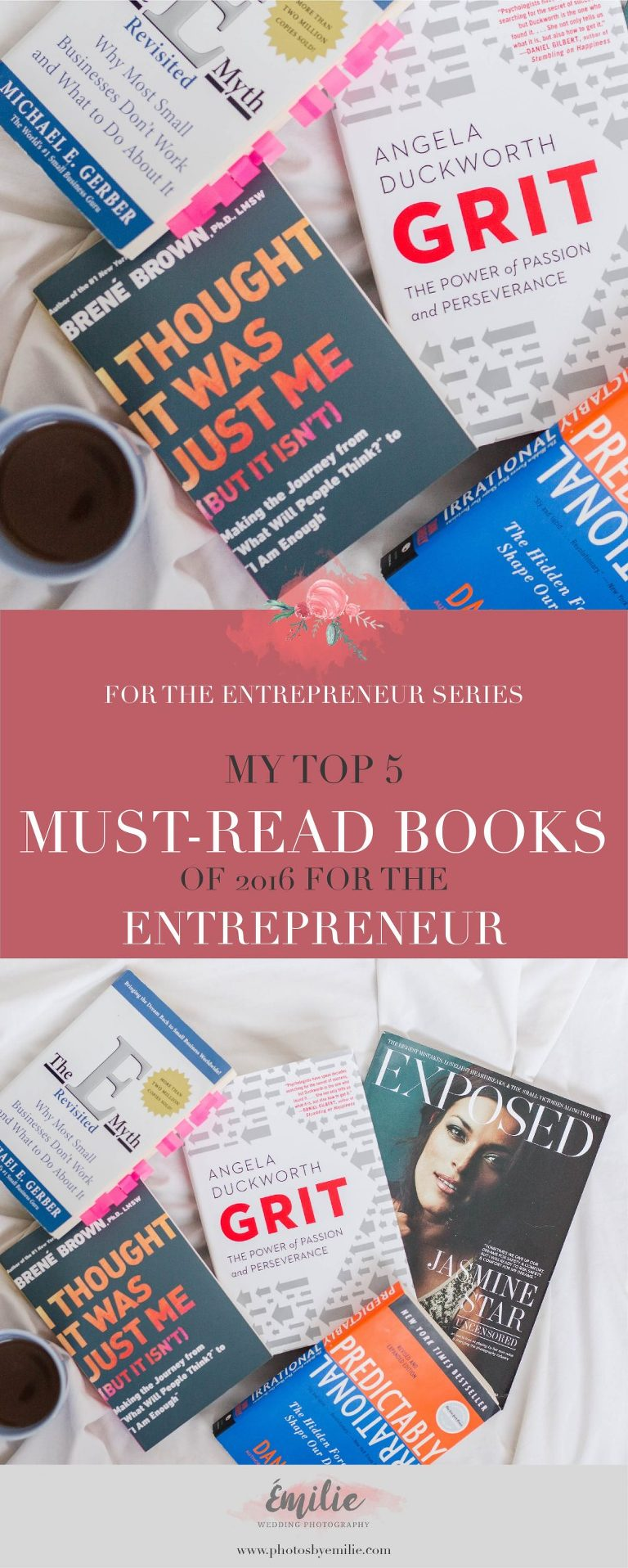 My Top 5 Must Read Books of 2016 for the Entrepreneur