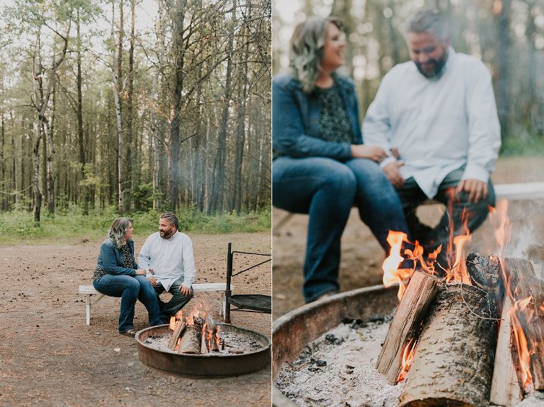 Nadine and Dale Cottage Lake Engagement in Smoky Lake Alberta