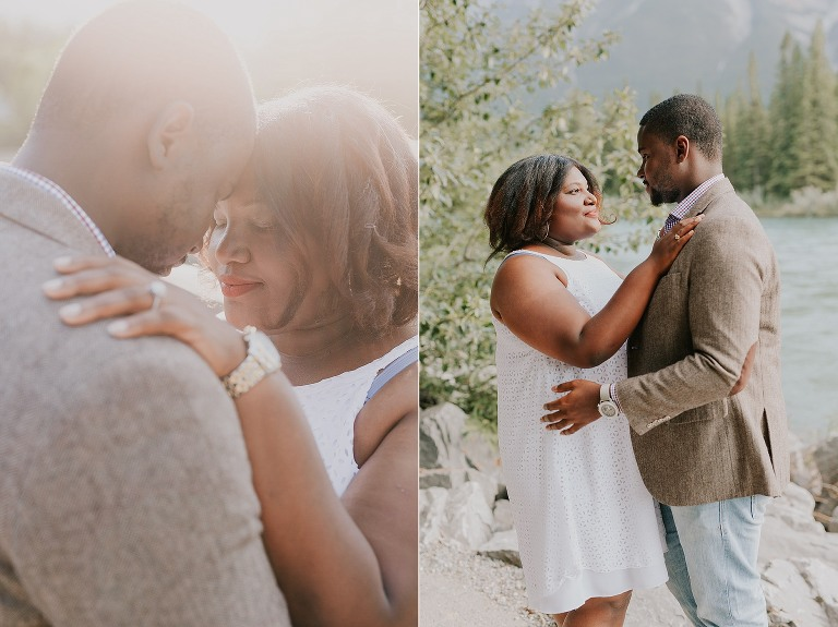 Jo-Lene and Mykel Engagement Photo in Canmore Alberta