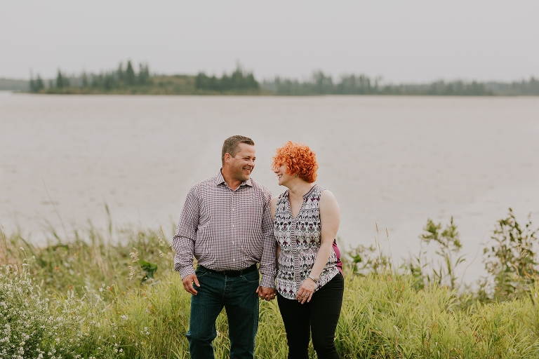 Andrea and Doug Adventure Engagement Campfire Session in Elk Island Ntional Park