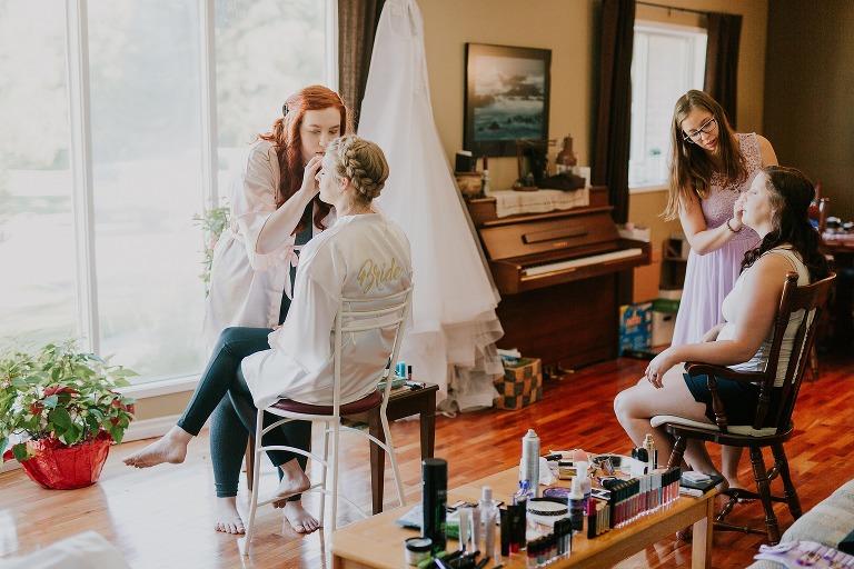 Erin and Steve Epp backyard tent wedding in Spruce Grove Alberta