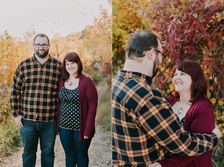 Capilano Park fall colours Edmonton engagement session photos