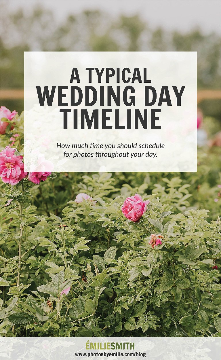 Typical Wedding Day Timeline