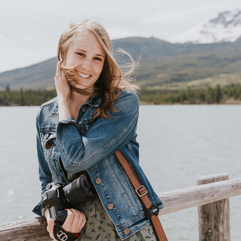 Emilie Smith Adventure Photography at Jasper National Park, Pyramid Lake by Tori Agius Photography