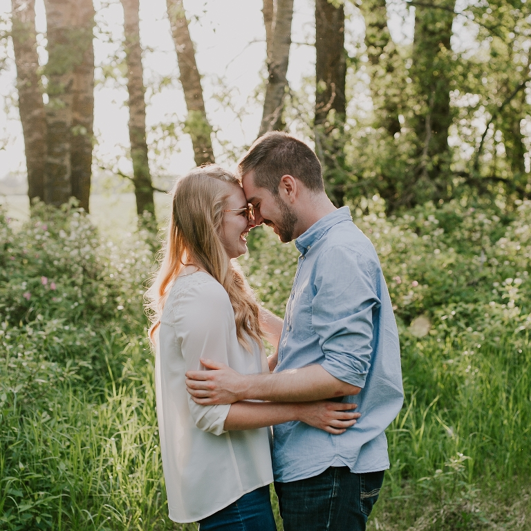 Erin and Steve Engagement Session at Stony Plain Alberta Acreage by Emilie Smith Adventure Photography